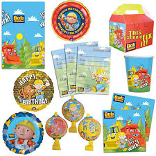 Bob The Builder Children's Birthday Party Plates Cups Napkins Tableware Listing