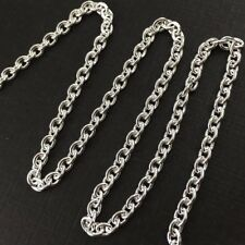 Sterling Silver Chain-Bulk Unfinished Chain 925 -Heavy Oval Cable Chain 5x4mm