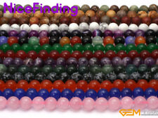 "Natural Gemstone Spacer Loose Stone Beads Lot For Jewelry Making 15"" Wholesale"