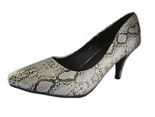 F9731- Ladies Spoton Pu Nude Snake Skin Design Court Shoes- Great Price