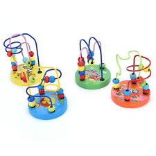 Top Educational Baby Kids Wooden Around Beads Toddler Infant Intelligence Toy