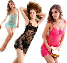 sexy Lingerie 3 ColorsBackless Sling Lace Erotic Lingerie + thongs Babydoll CHI
