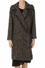ETRO New Woman Brown Knit Wool Blend Coat Jacket Made in Italy NWT