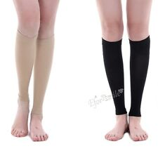 Sports Football Basketball Compression Calf Sleeves Foot Knee Care Support Socks