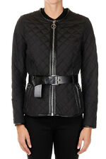 MICHAEL KORS New woman Black Quilted padded jacket with leather details