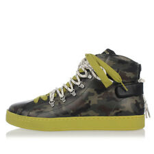 DOLCE&GABBANA New man Green Camouflage High Sneakers Shoes Made in Italy