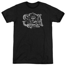Sons Of Anarchy Charming Ca Mens Adult Heather Ringer Shirt Black