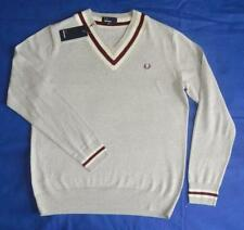 Fred Perry Inserted Tipping Jumper Sweater - BNWT - Large - Tipped