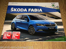 SKODA -  The Fabia Sales Brochure 12/2016