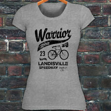 BICYCLE WARRIOR SPIRIT BIKE CYCLING ROAD MOUNTAIN Womens Gray T-Shirt
