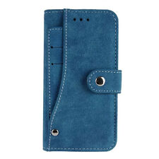 Luxury Magnetic Flip Cover Stand Wallet PU Leather Case For iPhone/Samsung