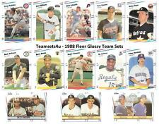 1988 Fleer Glossy Baseball Team Sets ** Pick Your Team Set **