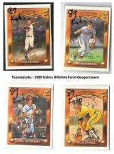 1989 Kahn's Hillshire Farm Cooperstown Collection Baseball Set ** Pick Your Team