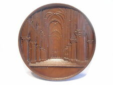 RARE ARCHITECTURE MEDAL BY WIENER - NOTRE DAME CATHEDRAL IN PARIS