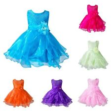 Baby Infant Dress Girls Party Tutu Sheer Photo Costume Newborn Clothes 0-24M