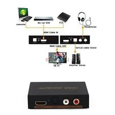HDMI in to HMDI out + Optical SPDIF RCA L/R Audio Extractor Converter Adapter