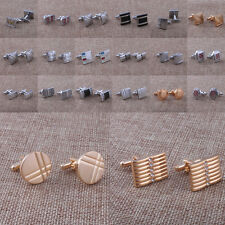 NEW Silver Golden Plated Tuxedo Cufflinks Shirt Studs Formal Set Tux Cuff Links