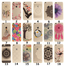 For iPhone Xiaomi Redmi Flowers Rubber Clear Soft TPU Back Cover Case Ultra Slim