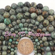 "Nautral Round Multicolor Africa Turquoise Gemstone Beads Strand15""4,6,8,10,12mm"