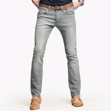 Fashionable Mens Sraight Cowboy Style Gray Leg Jeans Pants Trousers 29 to 36