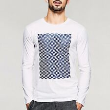 Cool Mens Round Neck Long Sleeve Print Fitted T-shirt Basic Tee Shirt  M to XXL