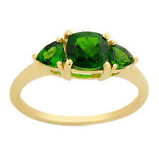 Chrome Diopside Genuine Gemstone Ring In 10 Kt Yellow Gold Jewelry