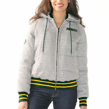G-III Sports by Carl Banks Green Bay Packers Gray First Team Varsity Jacket