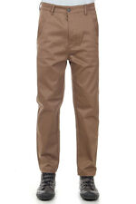 L(!)W BRAND Men Brown Cotton Stretch Pants Trousers TIDY TWILL Original with tag