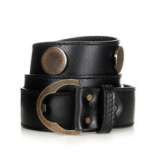MARTIN MARGIELA MM11 Men Black Grained Leather REPLICA Belt Made in Italy New
