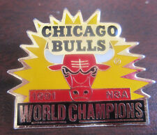 CHICAGO BULLS 1991 NBA WORLD CHAMPIONS Pin Pinback Peter David