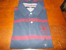 NWT MENS TOMMY HILFIGER SHORT SLEEVE BRANSON  STRIPED POLO SHIRT MEDIUM, XLARGE