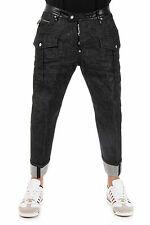 DSQUARED2 Dsquared² New Men Black Workwear Jeans denim cotton  Made Italy