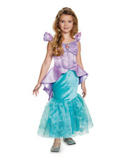 Child's Girls Disney Prestige Ariel The Little Mermaid Ball Gown Dress Costume