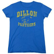 Friday Night Lights Dillon Panthers Womens Short Sleeve Shirt Royal