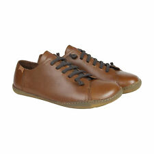 Camper Peu Cami Mens Brown Leather Lace Up Trainers Shoes