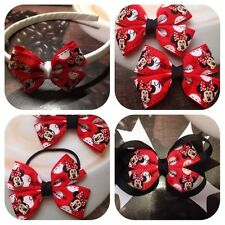 Minnie Mouse hair clips, bobbles, headband,  handmade