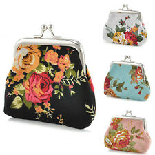 Women Wallet Flower Coin Change Purse Hasp Canvas Clutch Small Wallet Bags CHI