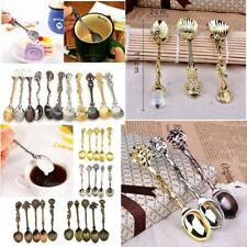 Retro Luxury Palace Style Coffee Spoon Tea Dessert Soup Condiment Scoop 3 Colors