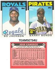 1986 Topps Traded Baseball Set ** Pick Your Team **
