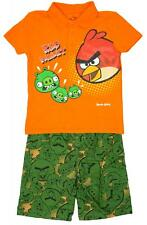 Boys Angry Birds Polo Collared T-Shirt Top Shorts Set 2 - 5 Years CLEARANCE SALE