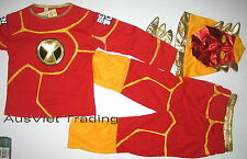 BNWT Ben Ten Heat Blast costume Dress up 3pc set Pretend Play Ben 10 Mask
