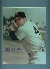 Lou Boudreau Autograph Photo Framed Matted PSA/DNA