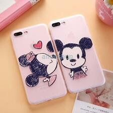 Mickey Minnie Couple Kiss Transclucent Soft Case Cover for iPhone 7 7 Plus 6 6S