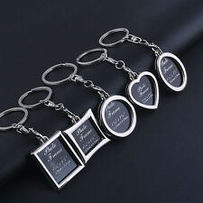SILVER PHOTO FRAME MEMORIAL KEYRING KEY CHAIN PICTURE REMEMBER FAMILY MUM DAD