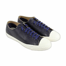 PF Flyers Rambler Hi Mens Black Leather Lace Up Sneakers Shoes