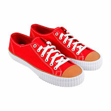 PF Flyers Center Lo Mens Red Canvas Lace Up Sneakers Shoes