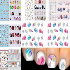 NAIL ART STICKER WATER TRANSFER STICKERS MIXED FLOWER DECALS TIPS 3D DECORATION