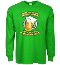 Funny st patricks day t-shirt take a pitcher beer decal saying green paddys tee