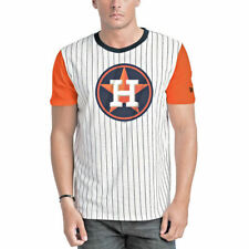 New Era Houston Astros White/Orange Pinstripe Baseball T-Shirt - MLB