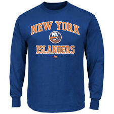 Majestic New York Islanders Royal Heart and Soul Long Sleeve T-Shirt